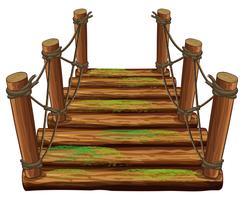 Holzbrücke mit grünem Moos