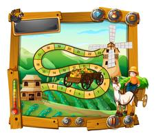 Spielschablone mit Landwirt auf Lastwagen