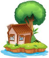 Ein Haus auf einer Insel