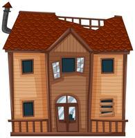 Altes Haus aus Holz vektor