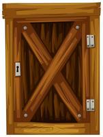 Holztür auf weißem Hintergrund vektor