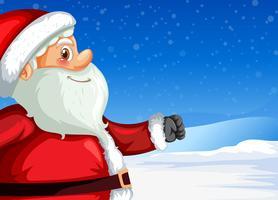 Santa claus på vinterns bakgrund vektor