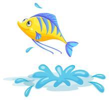 Ein gelber Fisch vektor