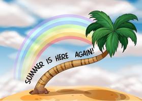 Eine Sommerschablone mit einem Regenbogen