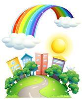 Rainbow över staden