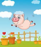 Ein Schwein vektor
