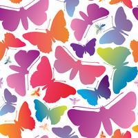Butterfly sömlös mönster. Sommarlov djurliv blommig bakgrund.