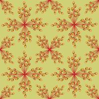 Abstrakt texturerat blommigt sömlöst mönster. Geometriska blommor
