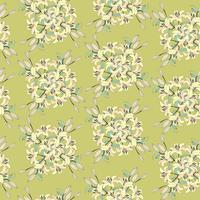 Floral sömlös bakgrund. Blomma bukett bakgrund vektor