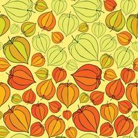 Abstrakt blommigt sömlöst mönster. Vinter kirsebär bakgrund