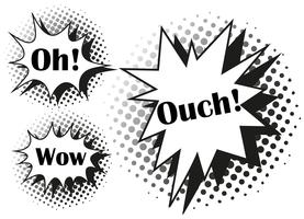 Drei verschiedene Ausdrücke beim Spritzen
