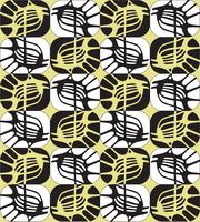Abstrakt ornamentala sömlösa konturer mönster i 1960-talet stil. vektor