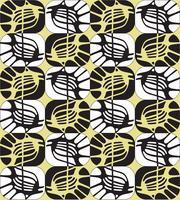 Abstraktes dekoratives nahtloses Entwurfsmuster im Stil der 1960er Jahre.