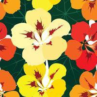 Abstraktes Blumenfliesenmuster. Garten Blumen Hintergrund