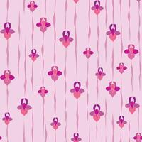Abstrakt blommigt sömlöst mönster. Blom geometrisk prydnads bakgrund.