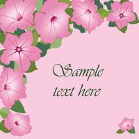 Blumenstrauß. Blumenrahmen Blühen grußkarte. Blühende Blumen getrennt auf weißem Hintergrund vektor