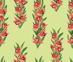Blommigt sömlöst mönster. Blomma ohrid bukettgräns.