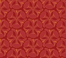 Abstraktes orientalisches nahtloses mit Blumenmuster. Geometrischer dekorativer Hintergrund der Blume.