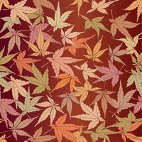 Abstraktes Blumenmuster. Blätter wirbeln nahtlosen Hintergrund