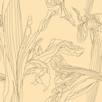 Blommigt sömlöst mönster. Blomma virvla bakgrunden.