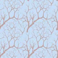 Wald nahtloser Hintergrund. Garten baum muster vektor