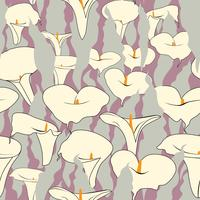 Blommigt sömlöst mönster. Flower cale bakgrund.