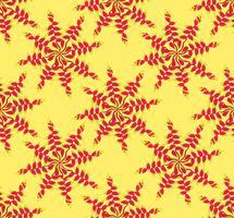 Abstrakt blommig etnisk mönster. Geometrisk blommig prydnad.