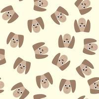 Tappningsmönster med babyleksakerhund. Gulliga barn fluffiga leksak illustration. vektor