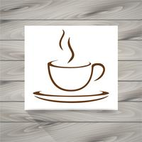 Kaffeetasse-Symbol vektor