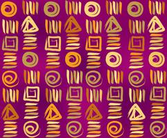 Geometrisches ethnisches nahtloses Muster. Abstrakte Blumenverzierung.