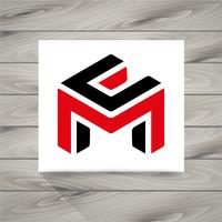 Buchstabe M Konzept Symbol vektor