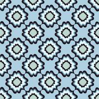 Nahtloses Blumenmuster. Abstrakte Blumenverzierung. Orientalische Textur