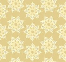 Abstrakt blommigt prydnadsmönster. Geometrisk prydnad sömlös