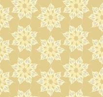 Abstraktes Blumenornamentmuster. Geometrische Verzierung nahtlos