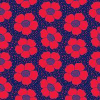Abstrakt blommigt sömlöst mönster. Blom geometrisk prydnads bakgrund. vektor