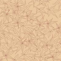 Abstraktes Blumenmuster Blätter wirbeln nahtlosen Hintergrund vektor