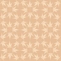 Abstraktes Blumenmuster lässt Strudel geometrischen nahtlosen Hintergrund. vektor