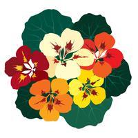 Abstrakt blommigt kakelmönster. Trädgårdsblomma bakgrund