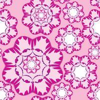 Abstrakte geometrische Blumenverzierung. Nahtlose Linienmuster vektor