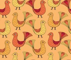 Vogel Muster. Bauernhof Vogel Muster. Viehschmuck.