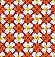 Abstrakt blommigt sömlöst mönster. Vinter körsbärs prydnad