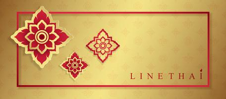 Luxustempel der thailändischen Kunst, Hintergrundmusterdekoration für den Druck, Flieger, Plakat, Netz, Fahne, Broschüre und Kartenkonzept vector Illustration