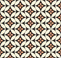 Abstrakte Blumenverzierung. Geometrische Linie nahtlose Muster