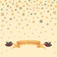 God julhälsningskortdesign. Vinterlov snöbakgrund