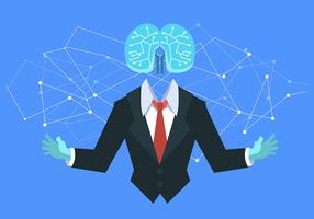 Künstliche Intelligenz und Person vektor