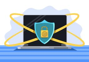 Cyber Security und Laptop vektor