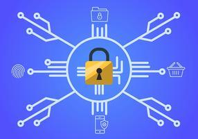 Cybersicherheit und Sperre vektor