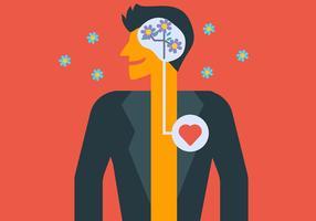 Geistige Gesundheit und Person vektor