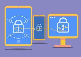 Cybersicherheit mit Smartphones vektor