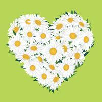 Blumenstrauß. Blumenherzrahmen. Blühen Sie Sommergrußkarte.